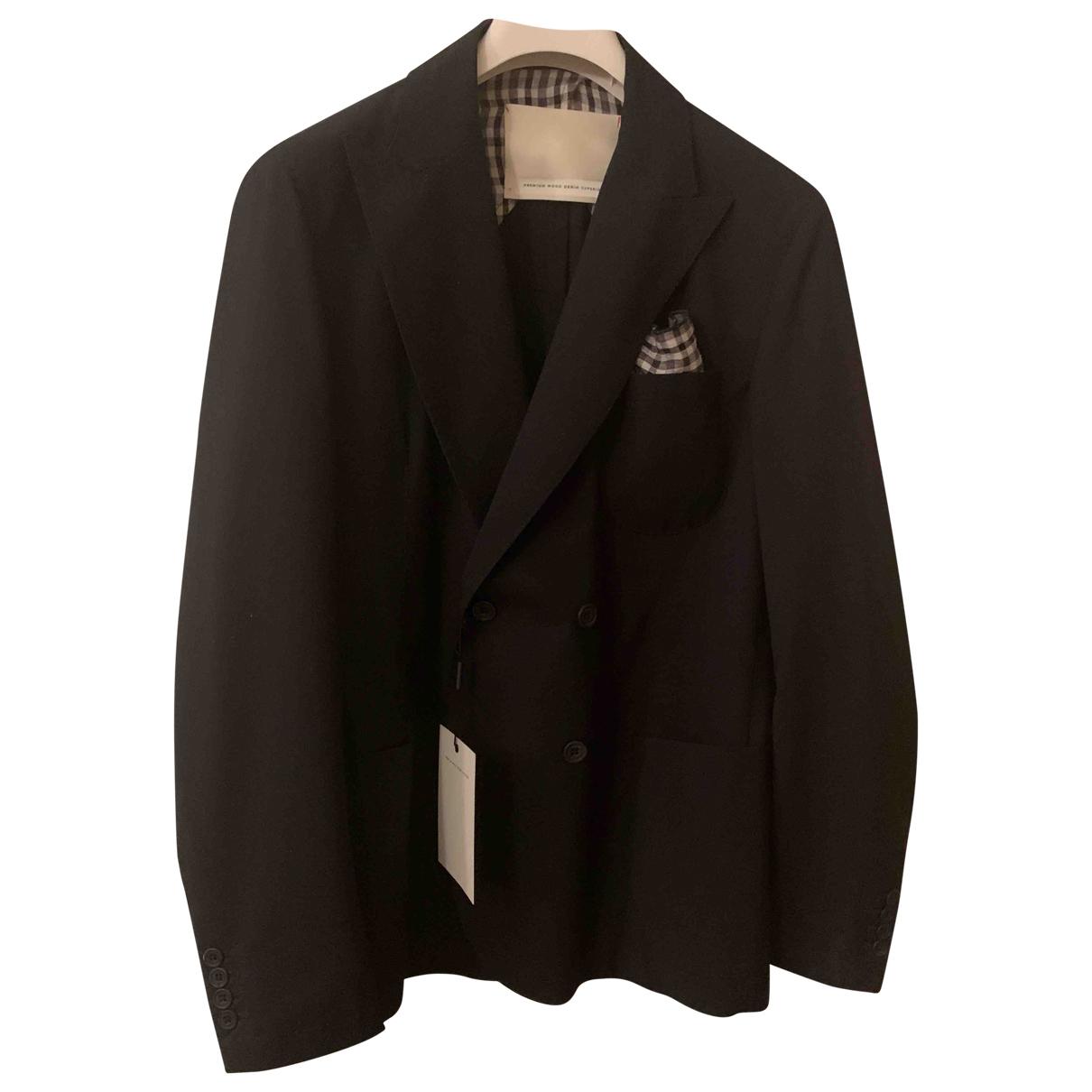 Non Signé / Unsigned \N Blue Cotton jacket  for Men XL International