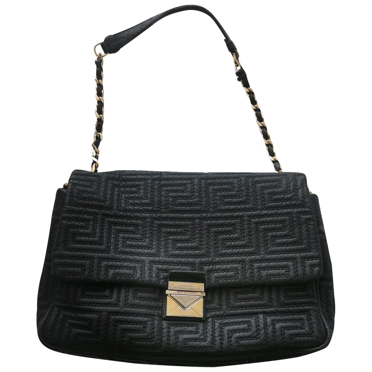 Gianni Versace \N Handtasche in  Schwarz Leder