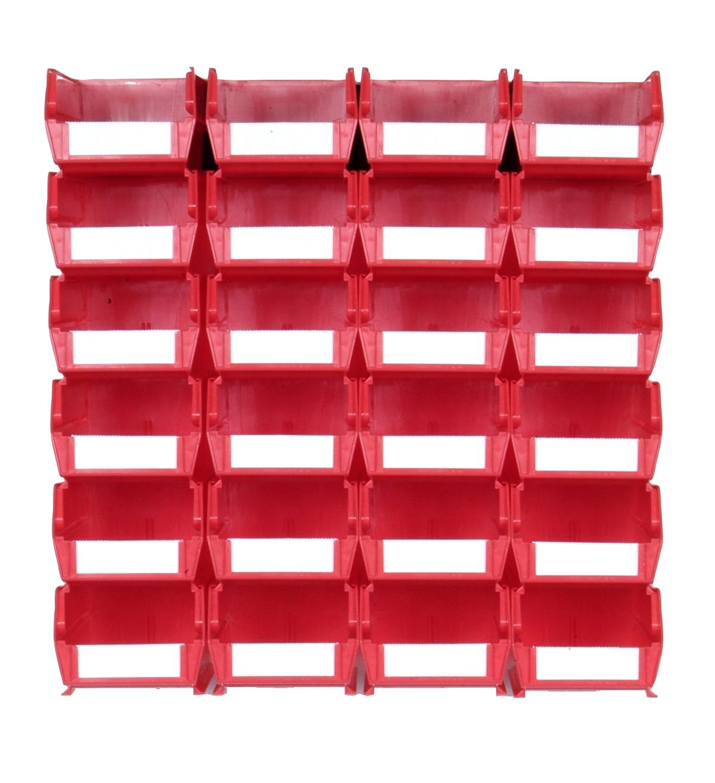 Triton Red 26 PC Wall Storage Unit - Medium