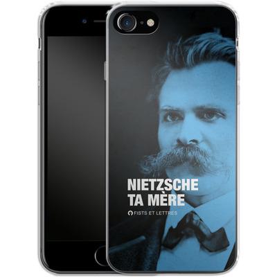 Apple iPhone 7 Silikon Handyhuelle - Nietzsche Ta Mere von Fists Et Lettres