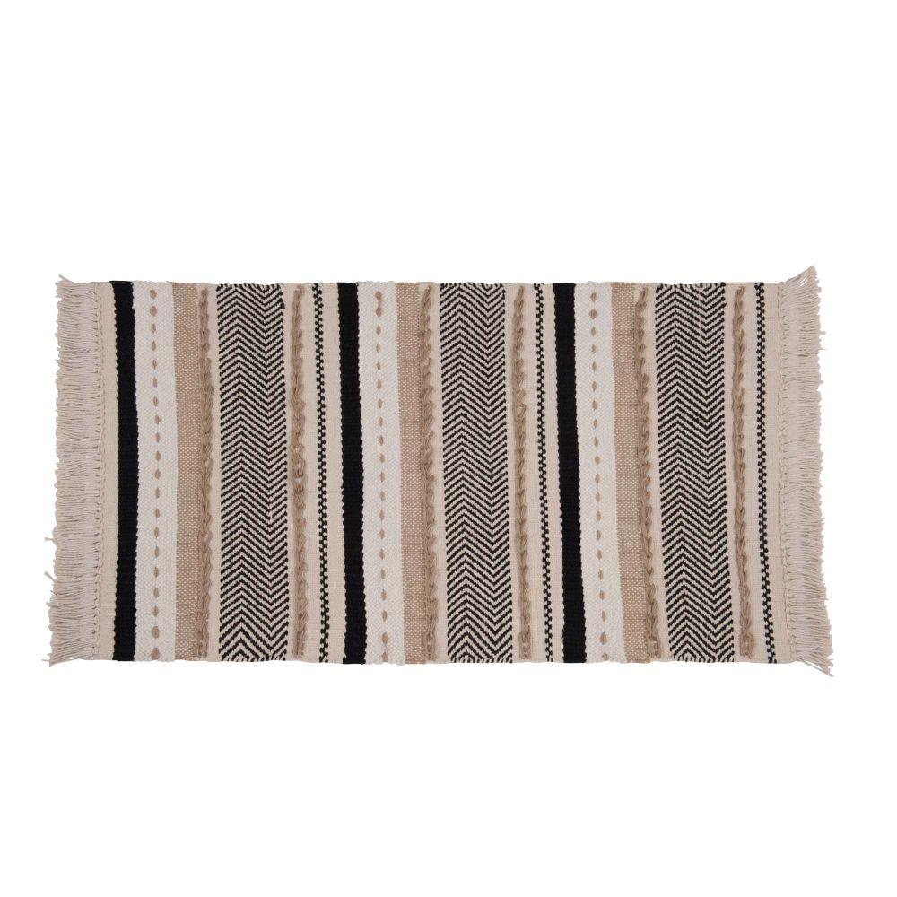 Baumwollteppich mit Streifenmuster 90x150