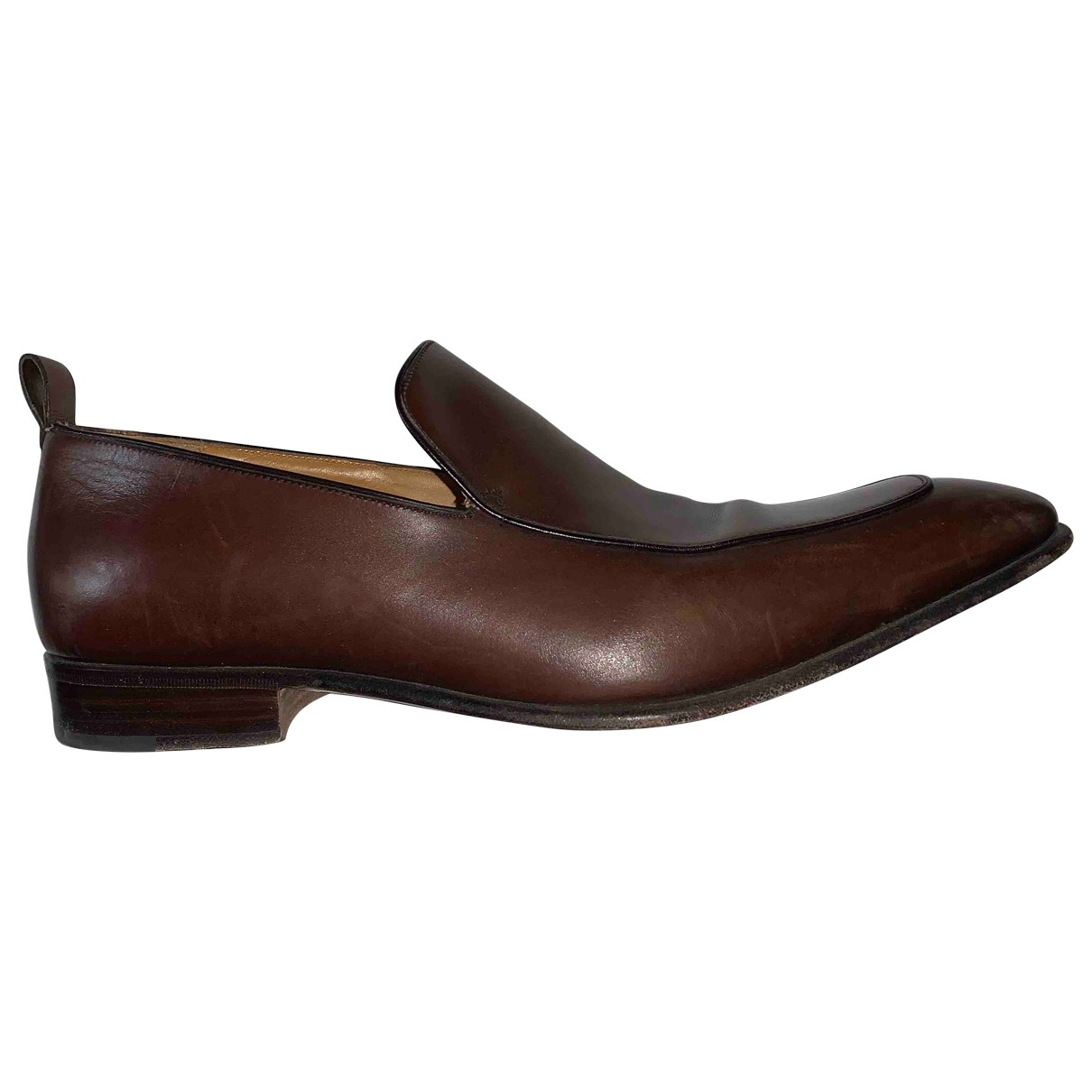 Sergio Rossi \N Brown Leather Flats for Men 43 EU