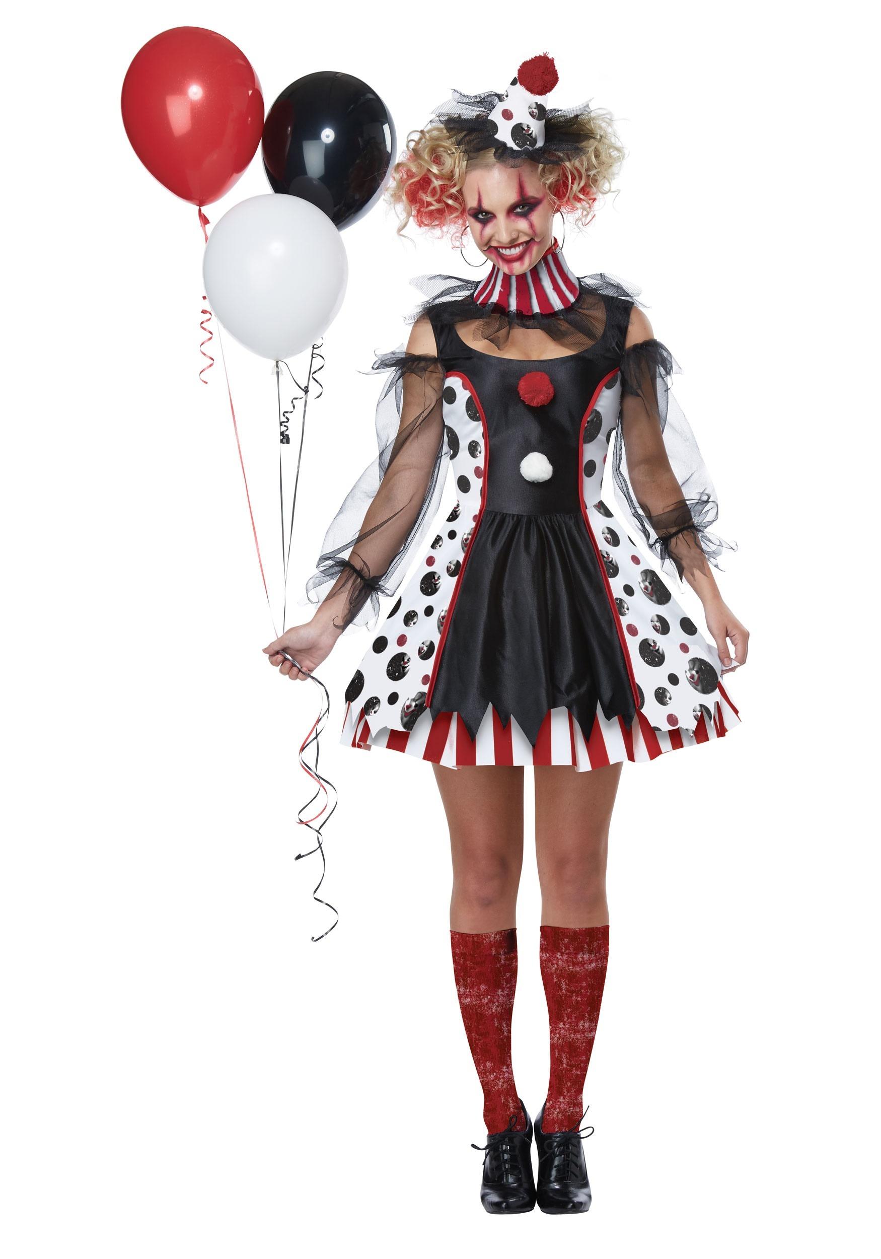 Creepy Clown Costume for Women