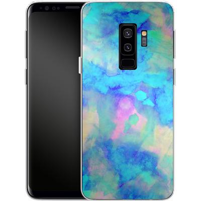 Samsung Galaxy S9 Plus Silikon Handyhuelle - Electrify Ice Blue von Amy Sia