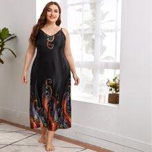 Cami Nachtkleid mit Paisley Muster