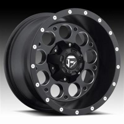 MHT Fuel Offroad D525 Revolver, 15x8 Wheel with 5 on 5 and 5 on 4.75 Bolt Pattern - Black with Machining - D52515800837