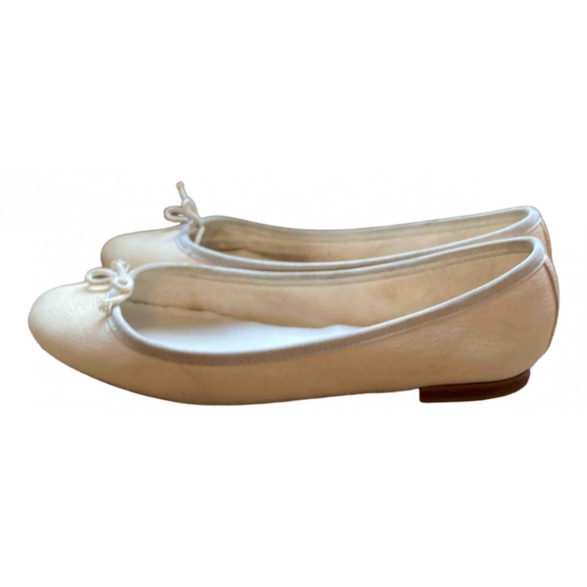 Repetto - Ballerines   pour femme en cuir - blanc