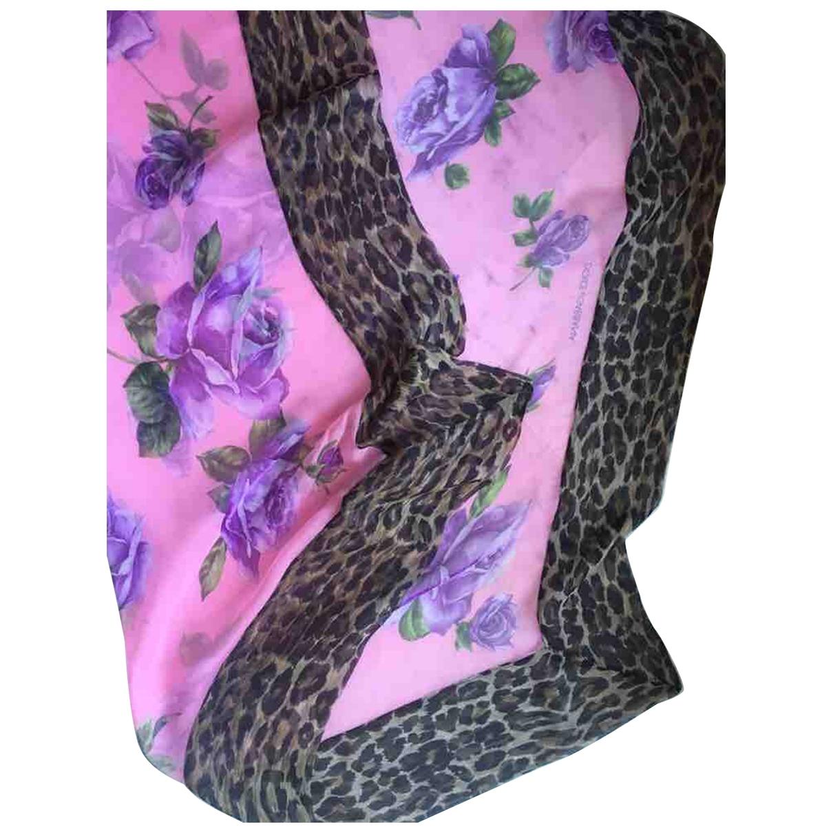 Dolce & Gabbana - Foulard   pour femme en soie - rose