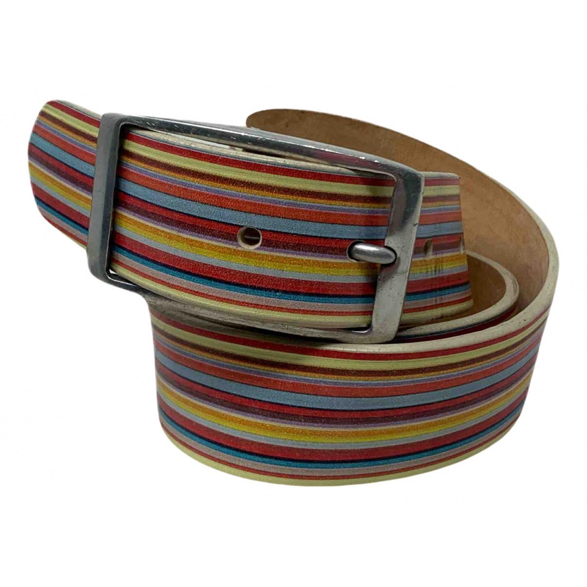 Paul Smith N Multicolour Leather belt for Women 85 cm
