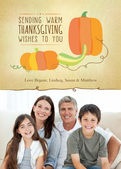 Thanksgiving Photo Cards 5x7 Folded Cards, Premium Cardstock 120lb, Card & Stationery -Pumpkin Thanksgiving