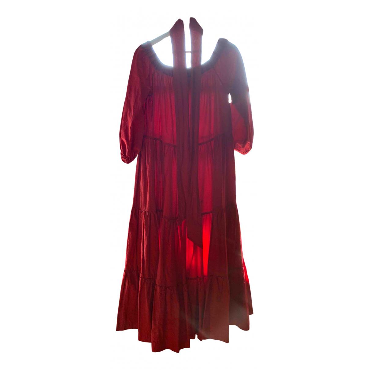 Erika Cavallini - Robe   pour femme en coton - rouge