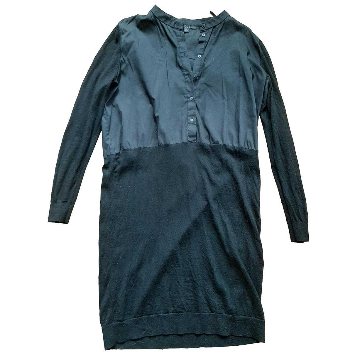 Cos \N Kleid in  Schwarz Wolle