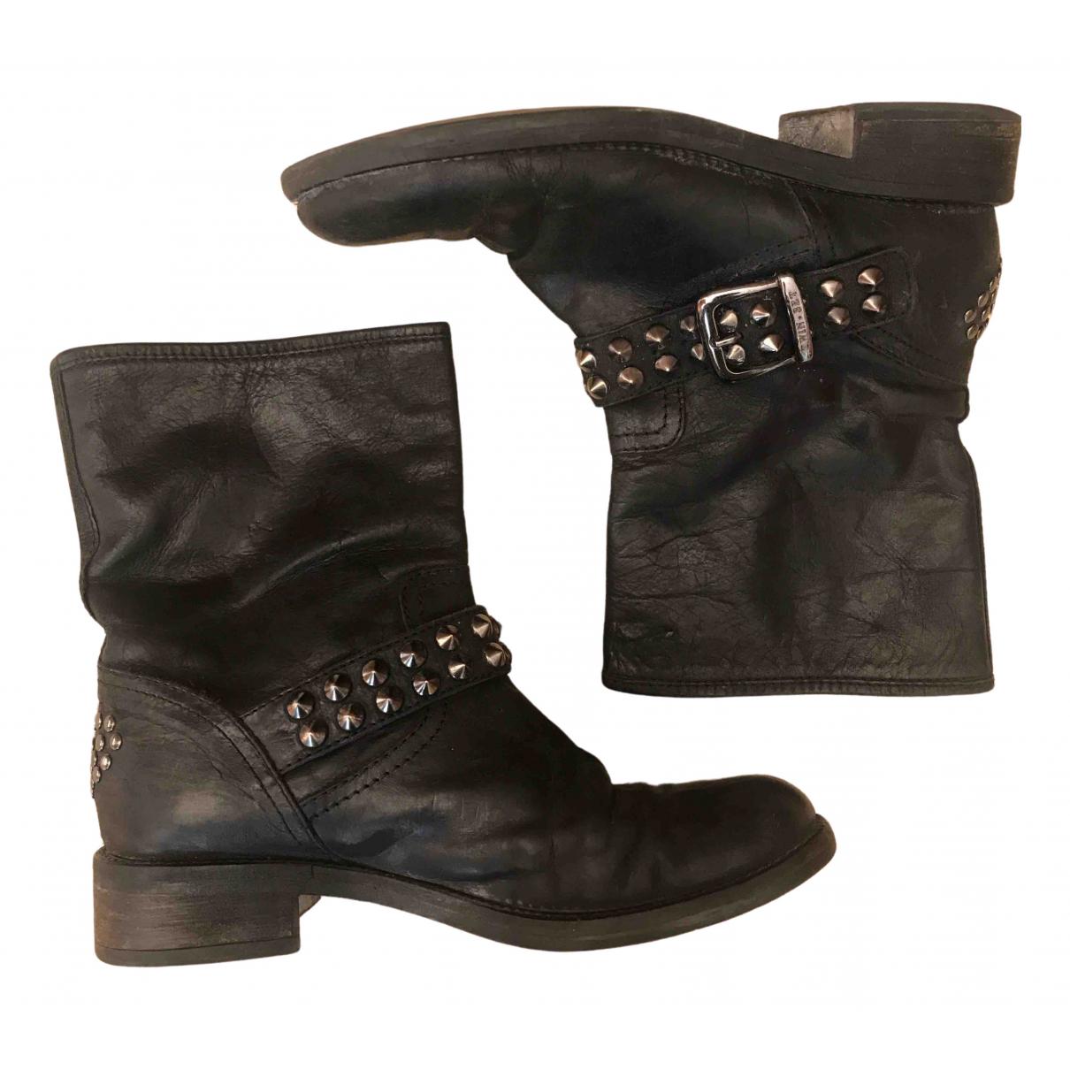Twin Set N Black Fur Boots for Women 36.5 EU