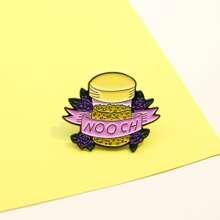 Bottle & Grape Design Brooch
