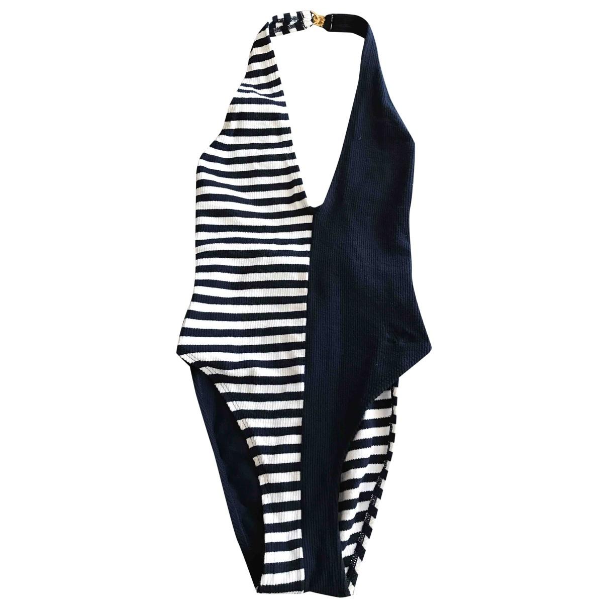 Valentino Garavani - Bain   pour femme en coton - elasthane - marine