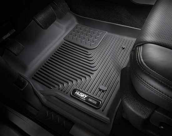 Husky Floor Liners 2nd Seat (Full Coverage) 14-16 Toyota Tundra CrewMax Cab Pickup X-act Contour