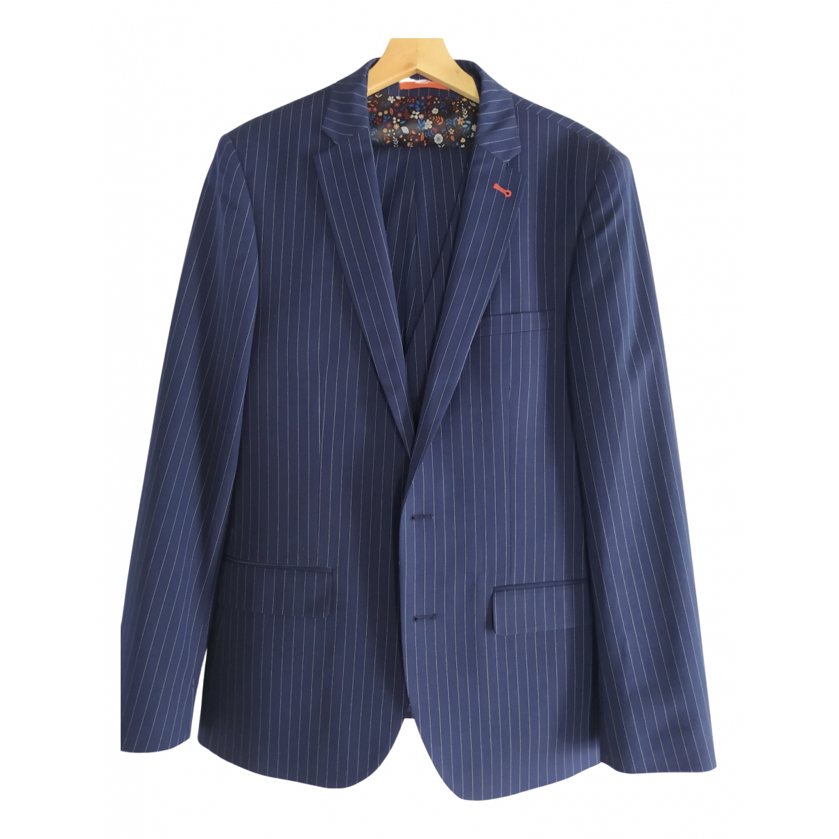 Non Signé / Unsigned \N Navy Suits for Men 52 IT