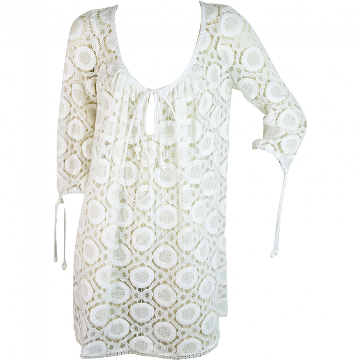 Milly \N White Cotton dress for Women 8 US