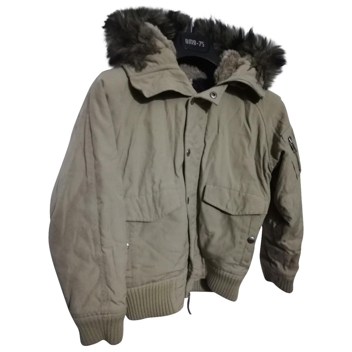 Woolrich - Blousons.Manteaux   pour enfant en coton - kaki