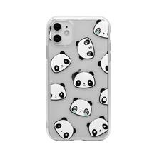 Funda de iphone transparente con estampado de panda