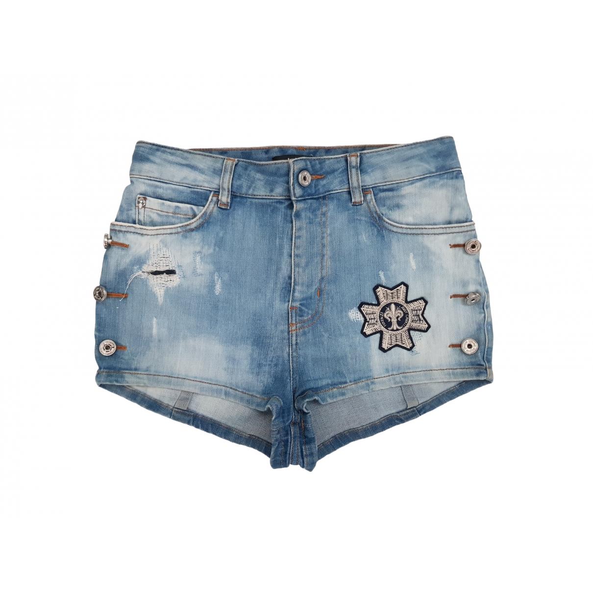 Just Cavalli \N Blue Denim - Jeans Shorts for Women 40 IT