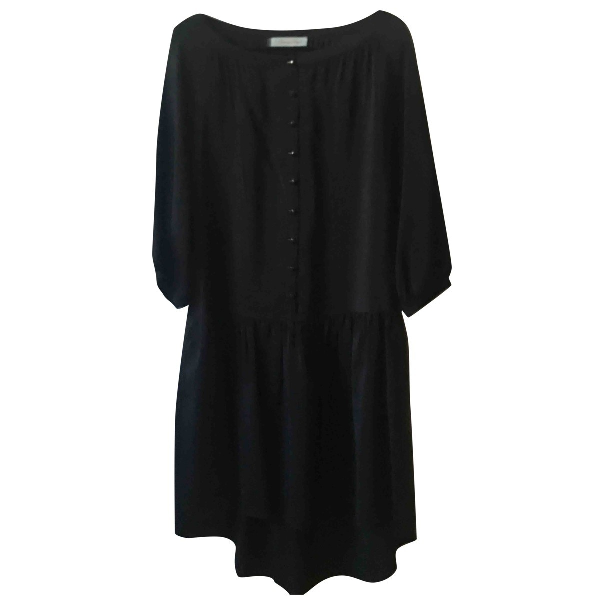 Non Signé / Unsigned \N Black Silk dress for Women L International