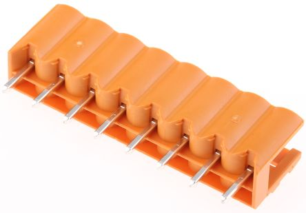 Weidmuller , OMNIMATE SL, 8 Way, 1 Row, Straight PCB Header (5)