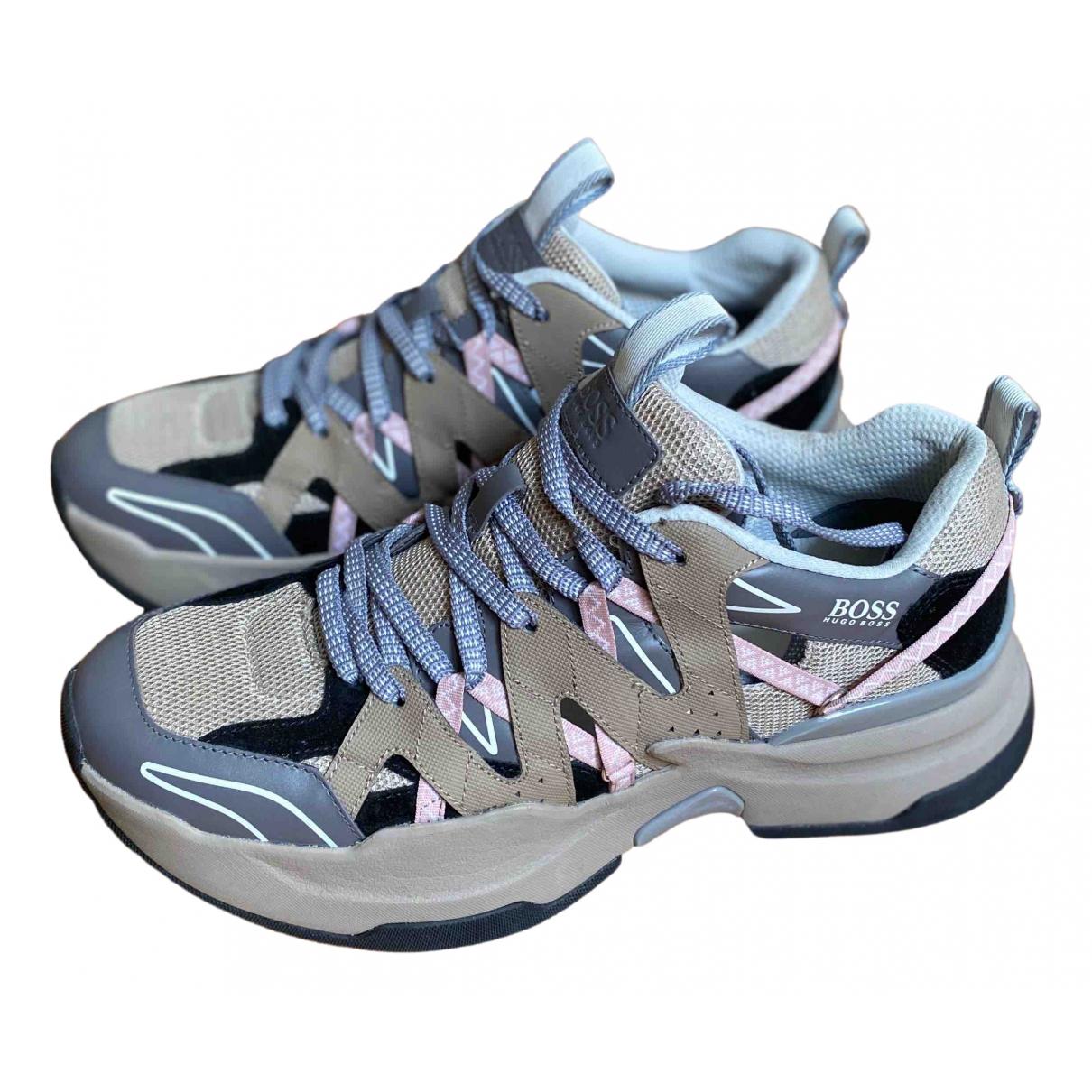 Boss - Baskets   pour homme en cuir - gris