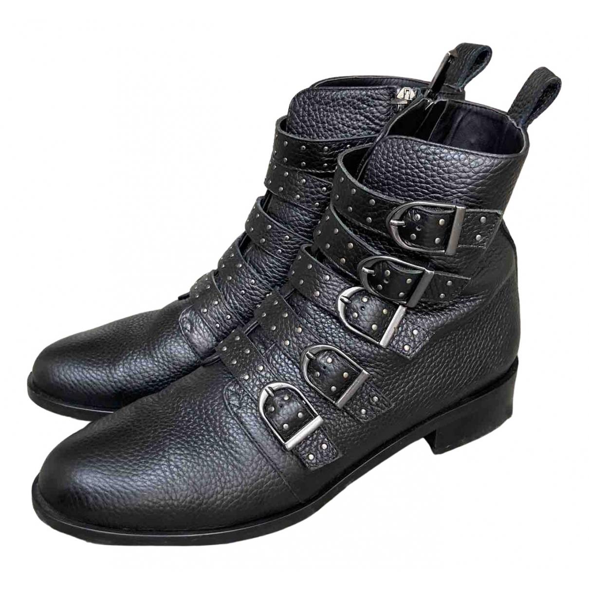 Karen Millen \N Black Leather Boots for Women 41 EU