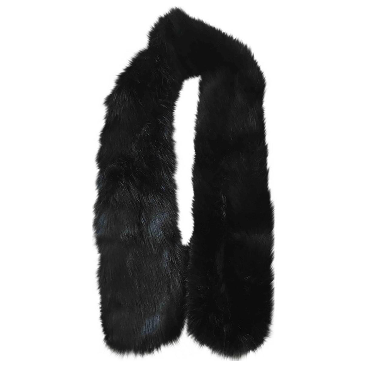 - Foulard   pour femme en fourrure - noir