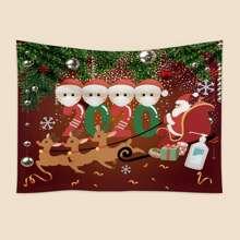 Santa Claus Print Tapestry