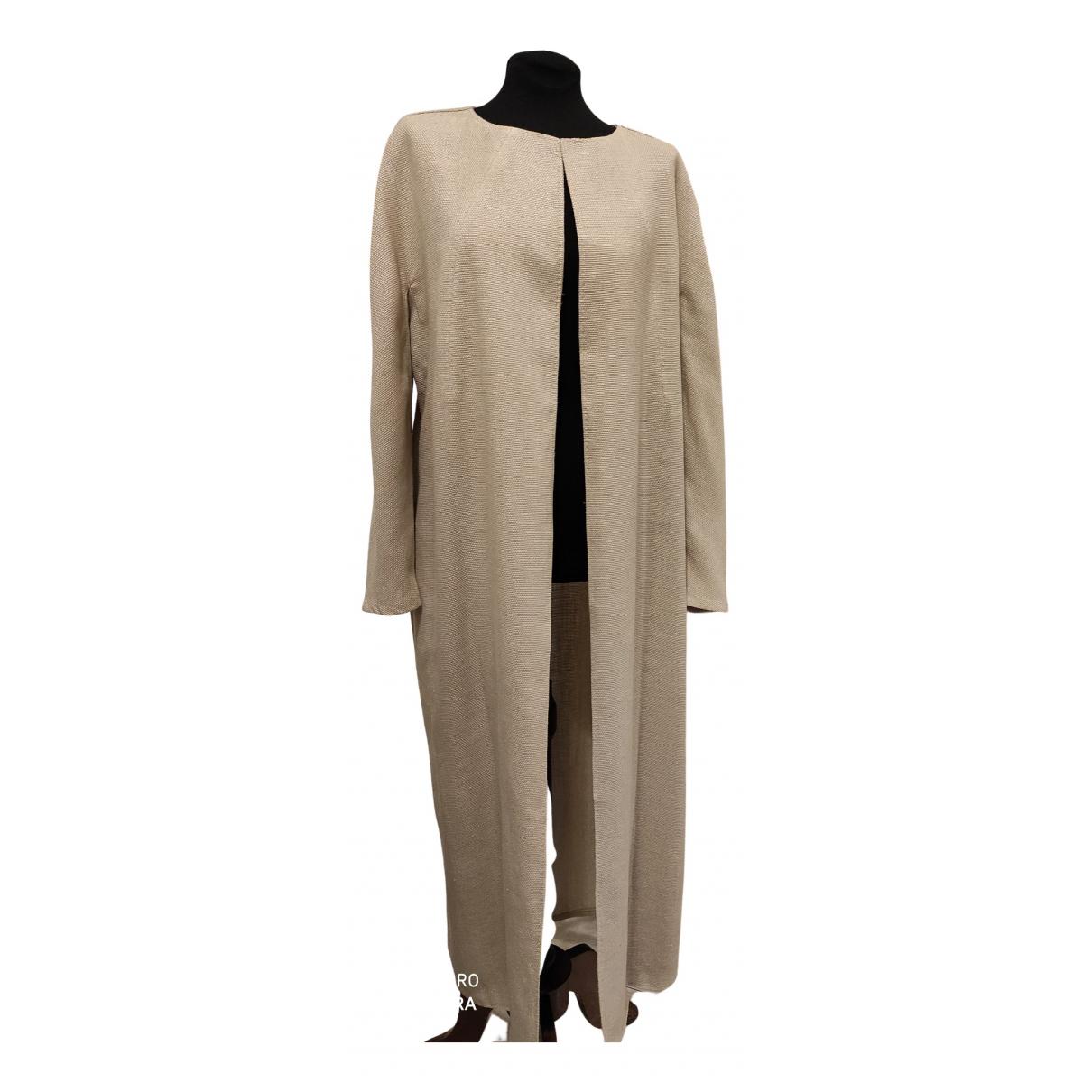 Valentino Garavani - Manteau   pour femme en laine - ecru