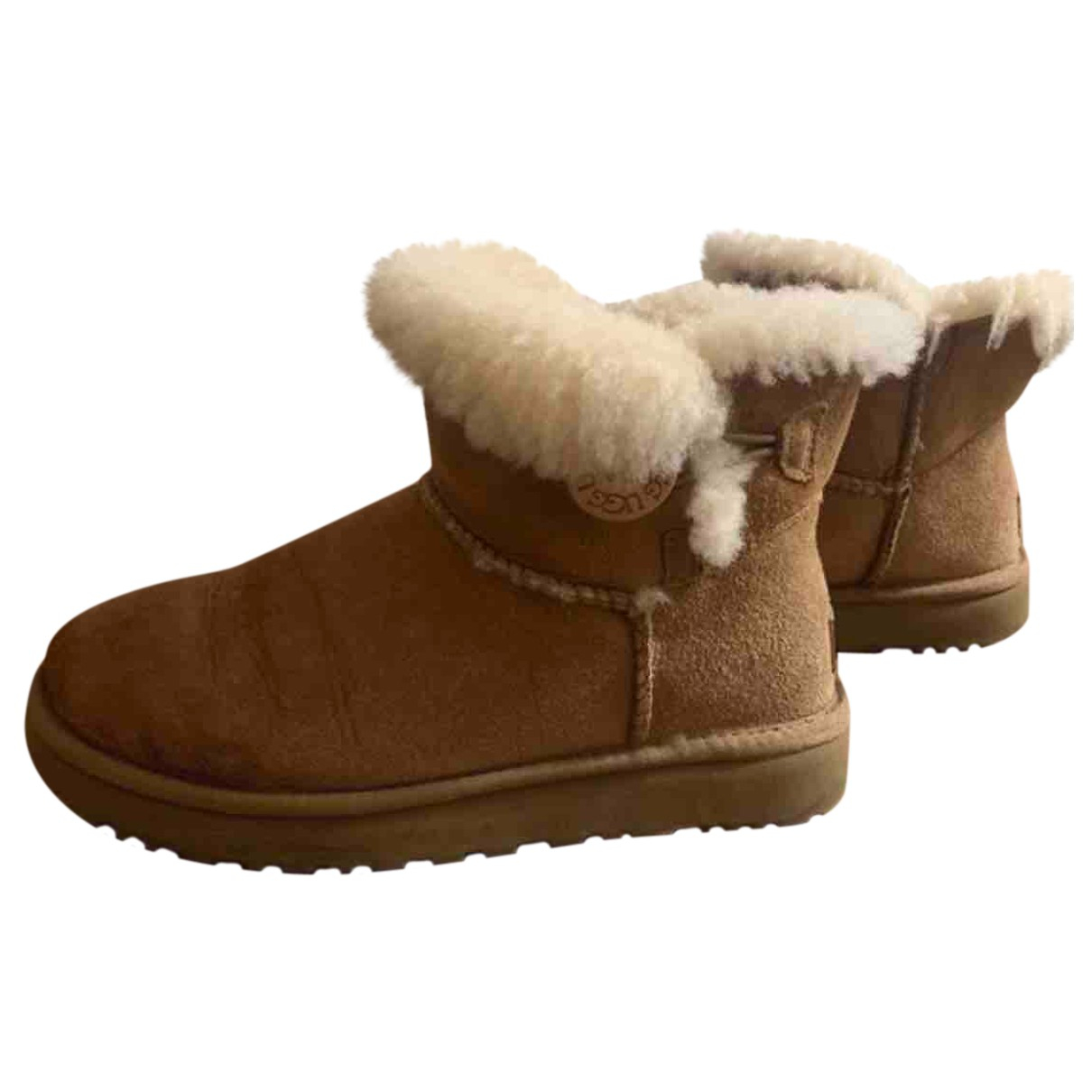 Ugg N Beige Shearling Ankle boots for Women 37 EU