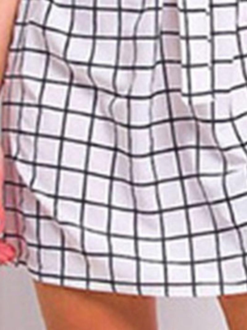 Ericdress Stand Collar Above Knee Three-Quarter Sleeve Plain Regular Dress