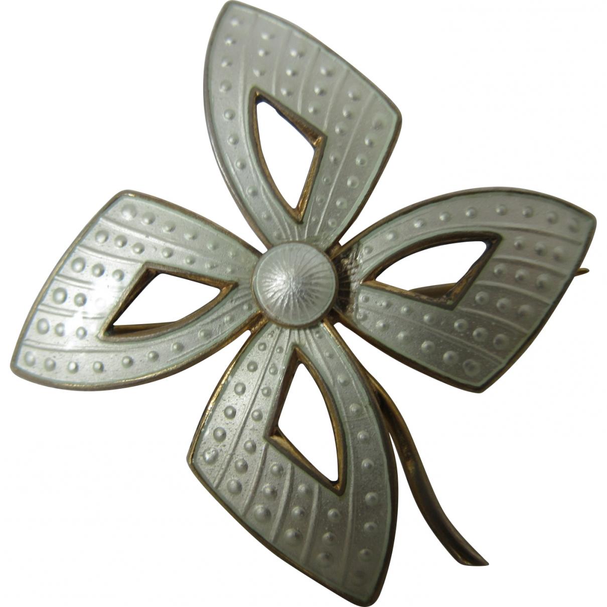 - Broche Motifs Floraux pour femme en argent