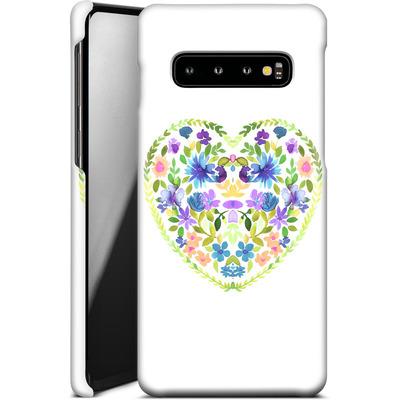 Samsung Galaxy S10 Smartphone Huelle - Love Folk Olive Green von Amy Sia
