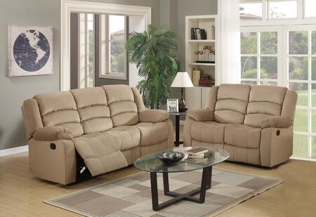 343876 60'' X 35'' X 40'' Modern Beige Leather Sofa and