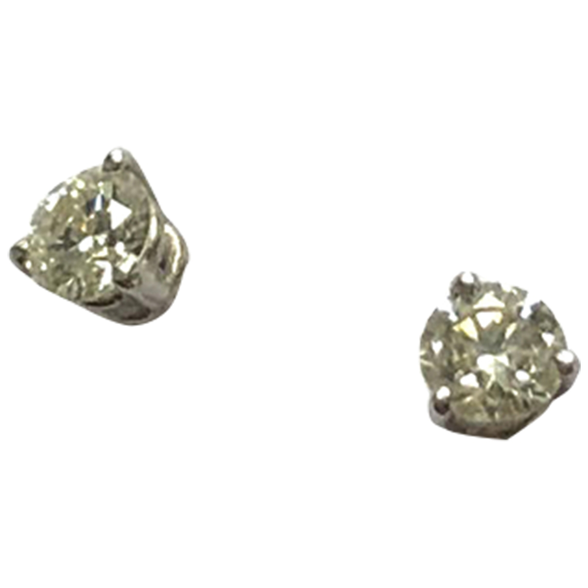 Non Signe / Unsigned Puces en diamants OhrRing in  Silber Weissgold