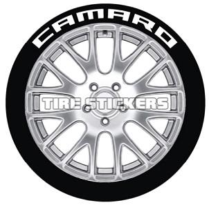 Tire Stickers CAMARO-1416-125-4-B Permanent Raised Rubber Lettering 'Camaro' Logo - 4 of each -  14