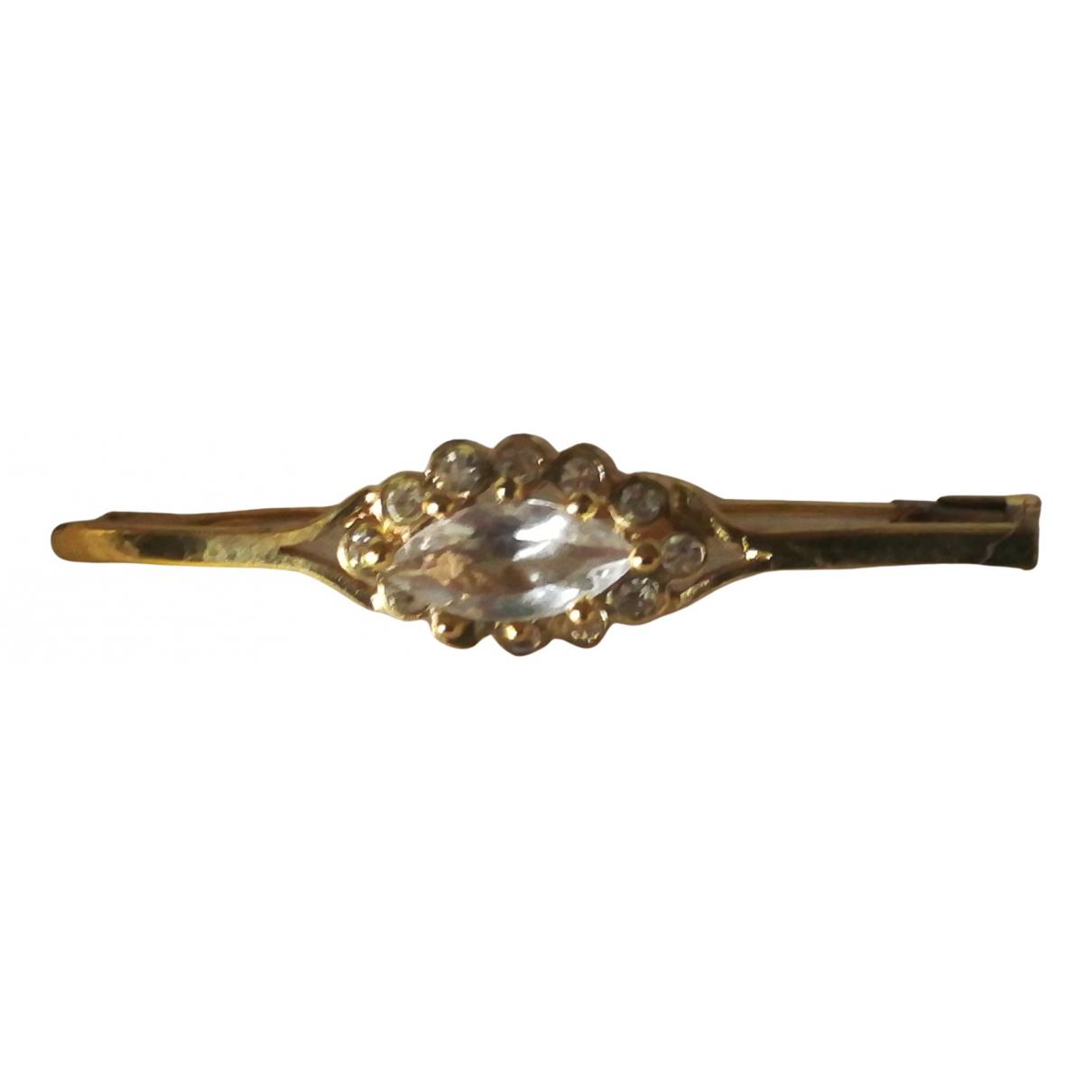 - Broche Art Deco pour femme en plaque or - dore