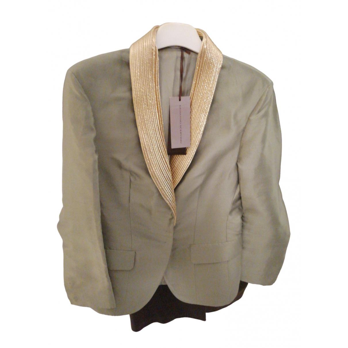 Ermanno Scervino \N Green Silk jacket for Women 46 FR