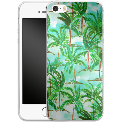 Apple iPhone 5s Silikon Handyhuelle - Palm Tree Green von Amy Sia