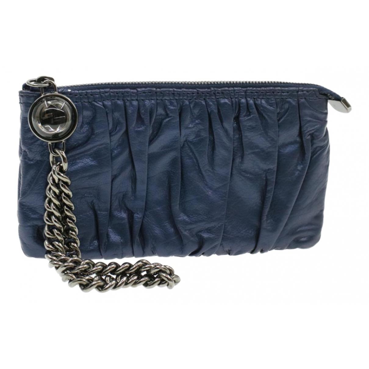Gucci N Blue Leather Clutch bag for Women N
