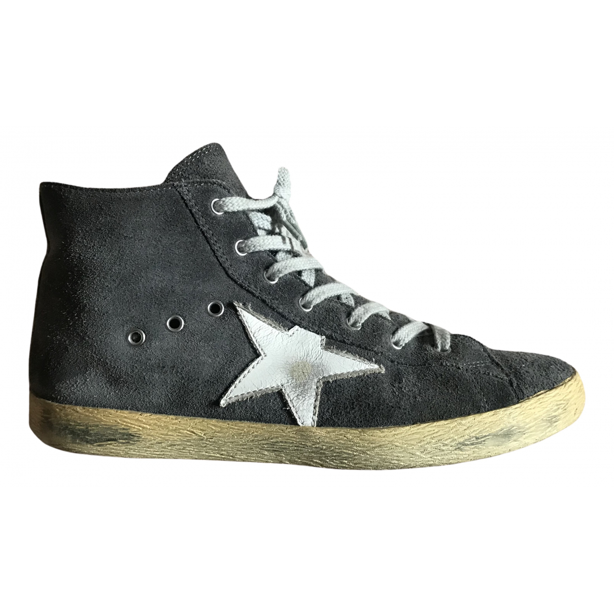 Golden Goose Francy Anthracite Suede Trainers for Kids 35 FR