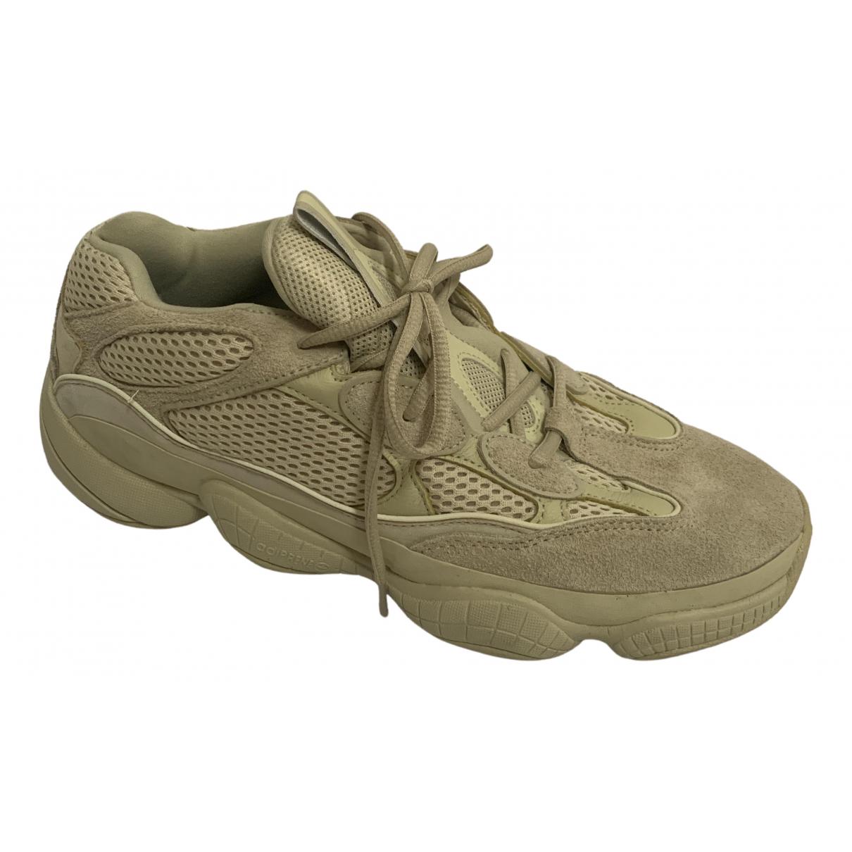 Yeezy X Adidas - Baskets 500 pour homme en cuir - jaune