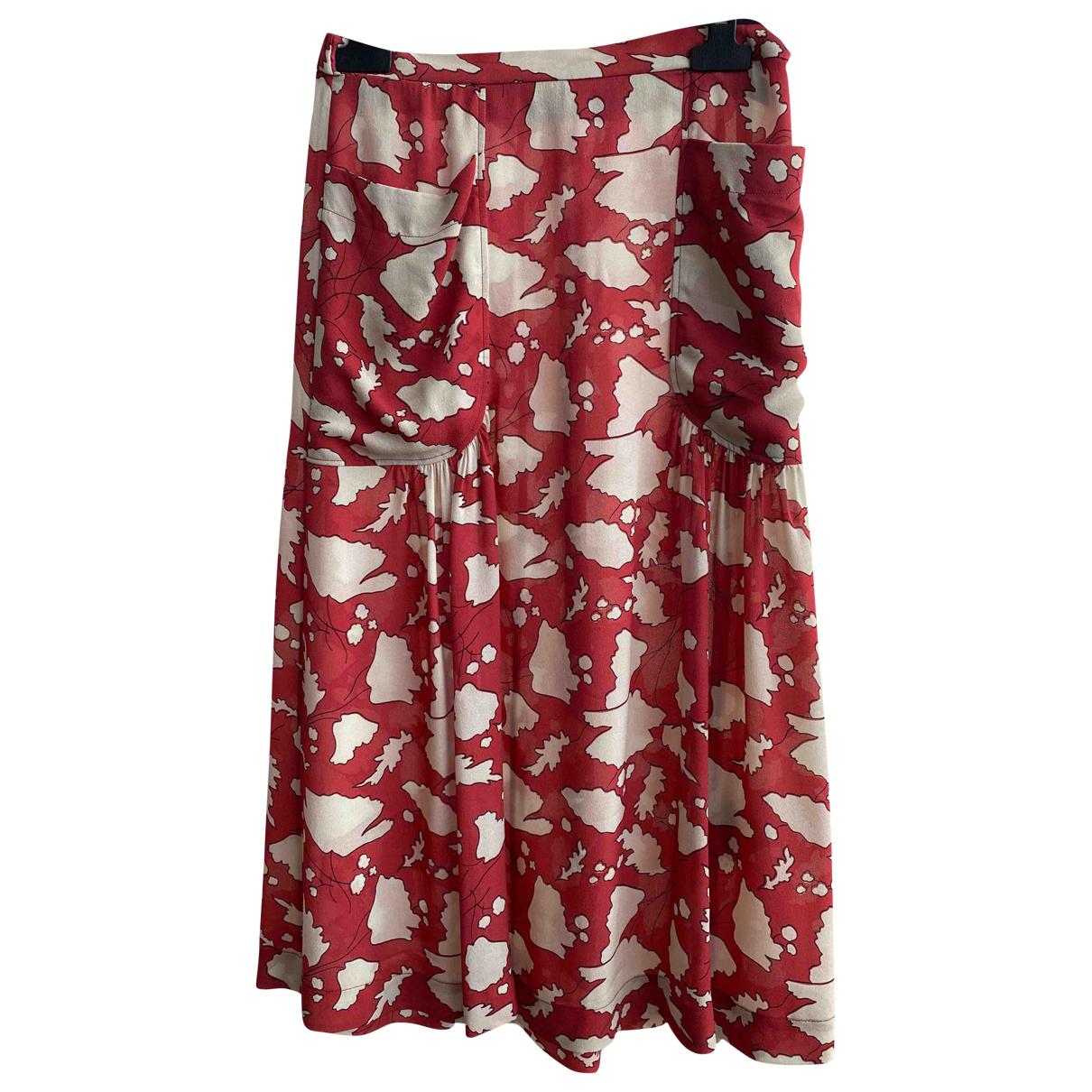 Raquel Allegra - Jupe   pour femme en soie - rouge