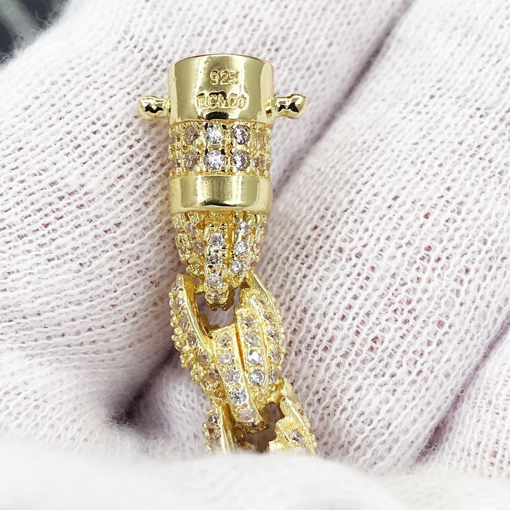 .925 Silver 8MM French Rope CZ Bling Bling Bracelet