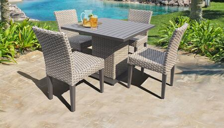 Florence Collection FLORENCE-SQUARE-KIT-4ADC Patio Dining Set with 1 Table   4 Side Chairs - No