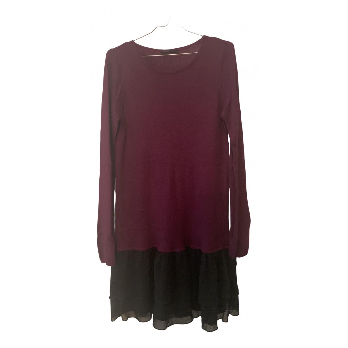 Maje \N Kleid in  Bordeauxrot Synthetik