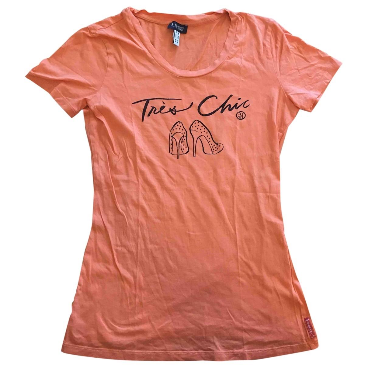 Armani Jean - Top   pour femme en coton - orange